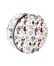 Mickey & Minnie White Round Jewelry Case
