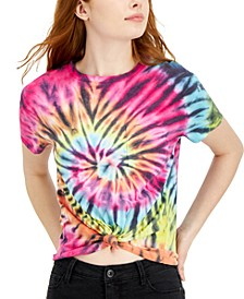 Juniors' Tie-Dyed Pocket T-Shirt