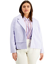 Plus Size Front-Detail Jacket, Created for Macy's