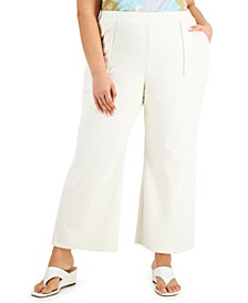 Plus Size Modern Lounge Wide-Leg Pants, Created for Macy's