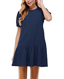 Juniors' Drop-Waist Dress