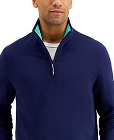 Men's Regular-Fit 1/4-Zip Fleece Sweatshirt, Created for Macy's