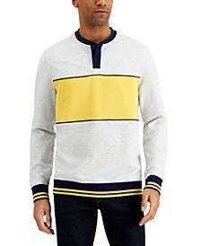 Men's Colorblocked Henley Sweatshirt, Created for Macy's