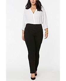 Women's Plus Size Marilyn Straight Jeans in Forver Slimming Denim
