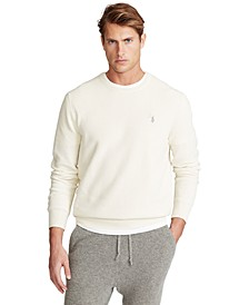 Men's Cotton Textured Crewneck Sweater