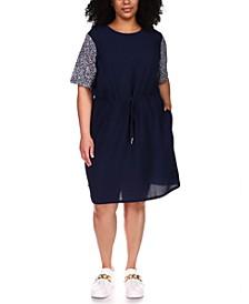 Plus Size Logo-Print Combo Dress