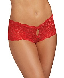 Women's Lace Panty with Heart Cutout Back