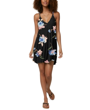 O'neill Juniors Seabright Tank Cover-up Dress Women's Swimsuit In Black