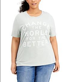 Trendy Plus Size Change The World T-Shirt