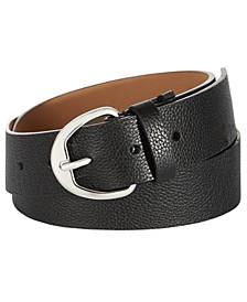 38 MM Pebble Leather Belt