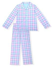Big Girls Plaid Pajama Set, 2 Piece