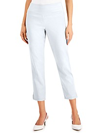 Charmed Straight-Leg Cropped Pants, Created for Macy's