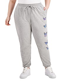 Trendy Plus Size Heathered Fleece Jogger Pants
