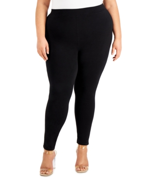 Trendy Plus Size Slash-Hem Leggings