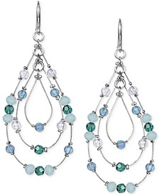 Multi-Bead Triple-Teardrop Drop Earrings, Created for Macy's