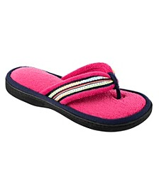 Isotoner Women's Microterry Anna Thong Slipper