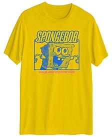 SpongeBob Neon Men's Short Sleeve Graphic T-shirt