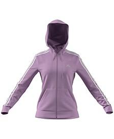Women's Essentials Full-Zip 3 Stripes Hoodie
