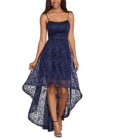 Lace High-Low Gown