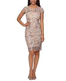 Embroidered Lace V-Back Dress