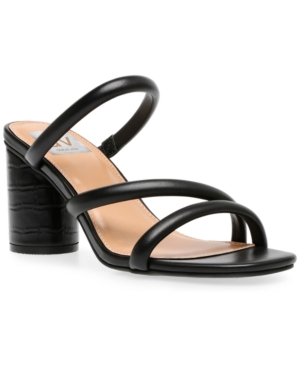 Dv Dolce Vita Myla Strappy Block-heel Sandals Women's Shoes In Black