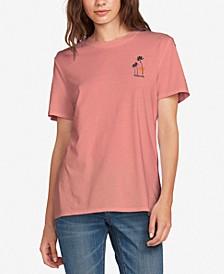 Juniors' Graphic-Print Cotton T-Shirt