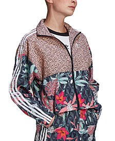 Women's Mixed-Print Track Jacket