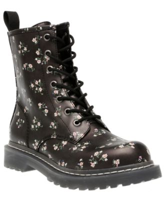 Ryyder Lace-Up Lug Sole Combat Booties, Created for Macy's