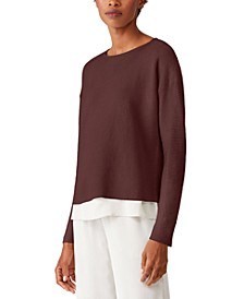 Textured Layered-Hem Top