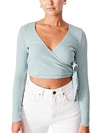 Women's Arlo Textured Wrap Long Sleeve Top
