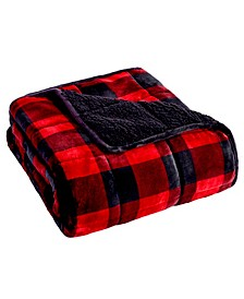 """Velvet to Sherpa Reverse Weighted Blanket, 48"""" L x 72"""" W"""