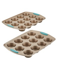 Cucina Bakeware Nonstick 2-Pc. Muffin Pan Set