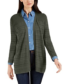 Petite Pointelle-Knit 3/4-Sleeve Cardigan, Created for Macy's