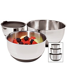 Stainless Steel Mixing Bowls with Lids, Set of 3