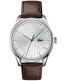 Men's Vienna Brown Leather Strap Watch 42mm