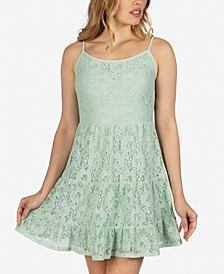 Juniors' Lace Tiered Dress