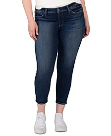 Plus Size Elyse Cropped Skinny Jeans
