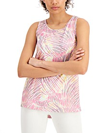 Tropical Fusion Printed Tank Top, Created for Macy's