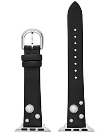 Black Leather Strap for Apple Watch®