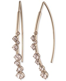 Crystal Stone Threader Earrings