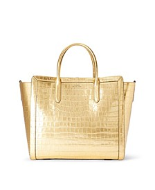 Medium Tyler Tote In Metallic Leather