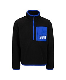 Big Boys Micro fleece Half-zip Sweatshirt
