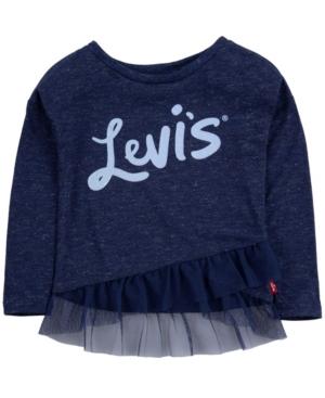 Levi's Tunics TODDLER GIRLS RUFFLED TUNIC T-SHIRT