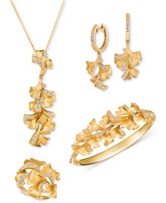 Nude Diamond Floral Bangle Bracelet (3/4 ct. t.w.) in 14k Gold