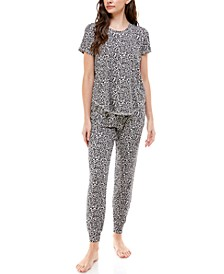 Luxe Short Sleeve Printed Loungewear Set