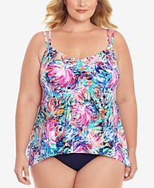 Plus Size Magnolia Tankini Top & Bikini Bottoms, Created for Macy's