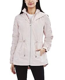 Hooded Bibbed Water-Resistant Anorak Raincoat