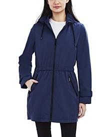 Hooded Water-Resistant Anorak Raincoat