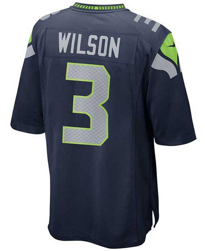 Kids' Russell Wilson Seattle Seahawks Game Jersey, Big Boys (8-20)