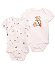 Ralph Lauren Baby Girls Polo Bear Bodysuit 2-Piece Set